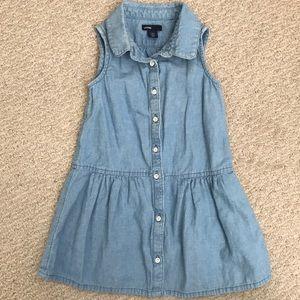 Gently worn BabyGap chambray button down dress